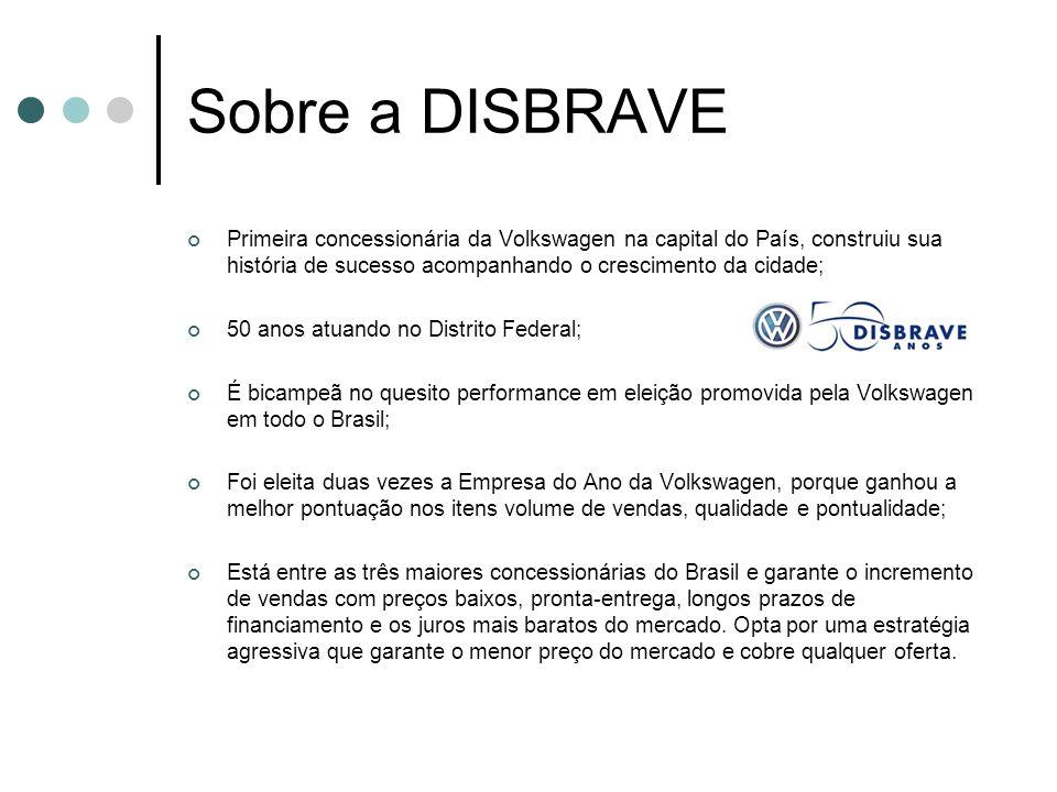 Sobre a DISBRAVE Primeira concessionária da Volkswagen na capital do País, construiu sua história de sucesso acompanhando o crescimento da cidade;