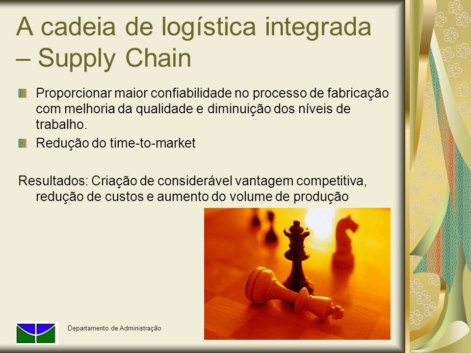 A cadeia de logística integrada – Supply Chain
