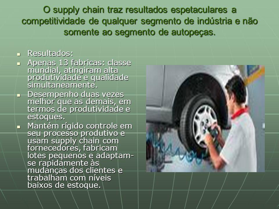 O supply chain traz resultados espetaculares a competitividade de qualquer segmento de indústria e não somente ao segmento de autopeças.
