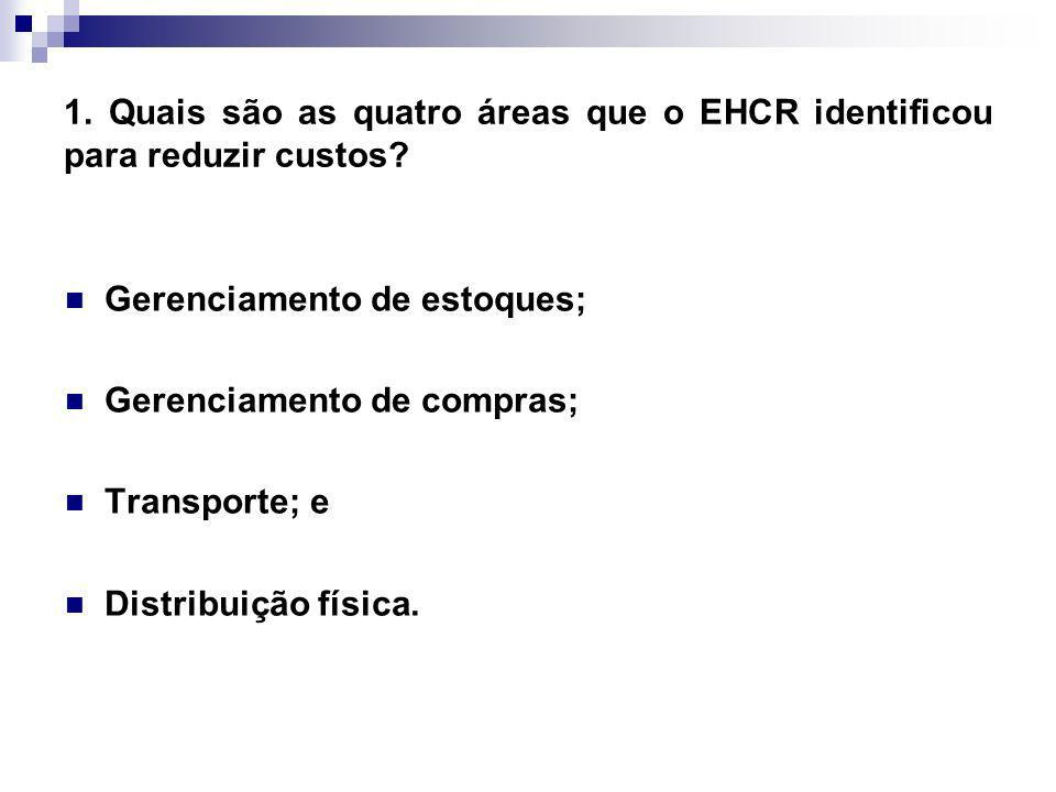1. Quais são as quatro áreas que o EHCR identificou para reduzir custos