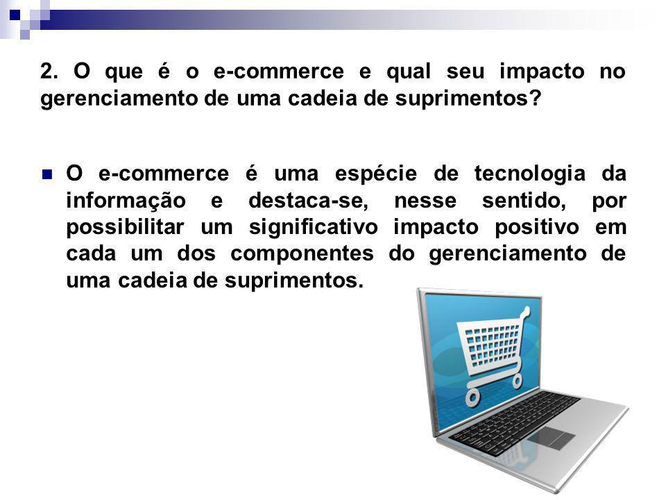 2. O que é o e-commerce e qual seu impacto no gerenciamento de uma cadeia de suprimentos