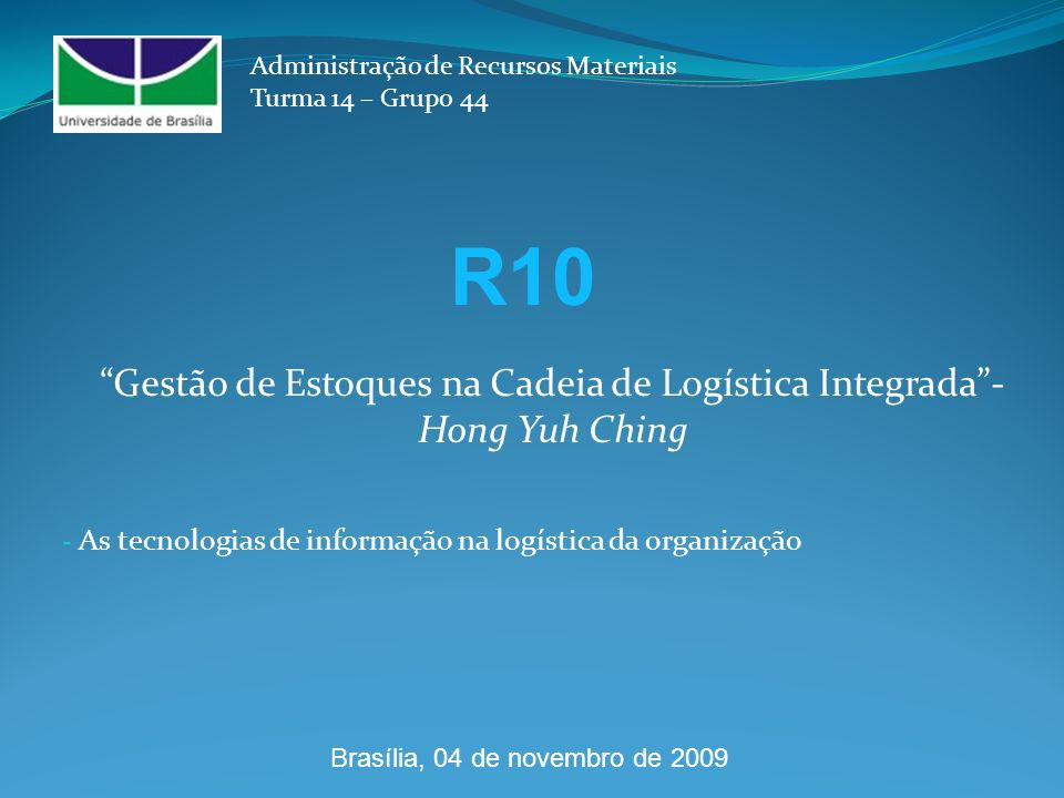 As tecnologias de informação na logística da organização