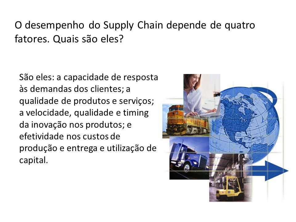 O desempenho do Supply Chain depende de quatro fatores. Quais são eles