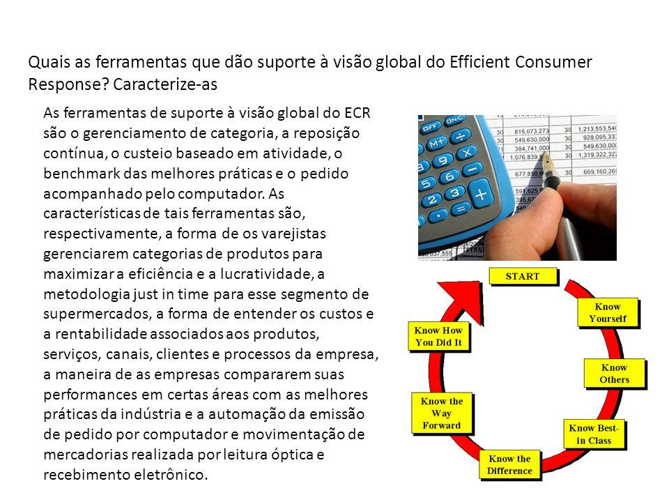 Quais as ferramentas que dão suporte à visão global do Efficient Consumer Response Caracterize-as