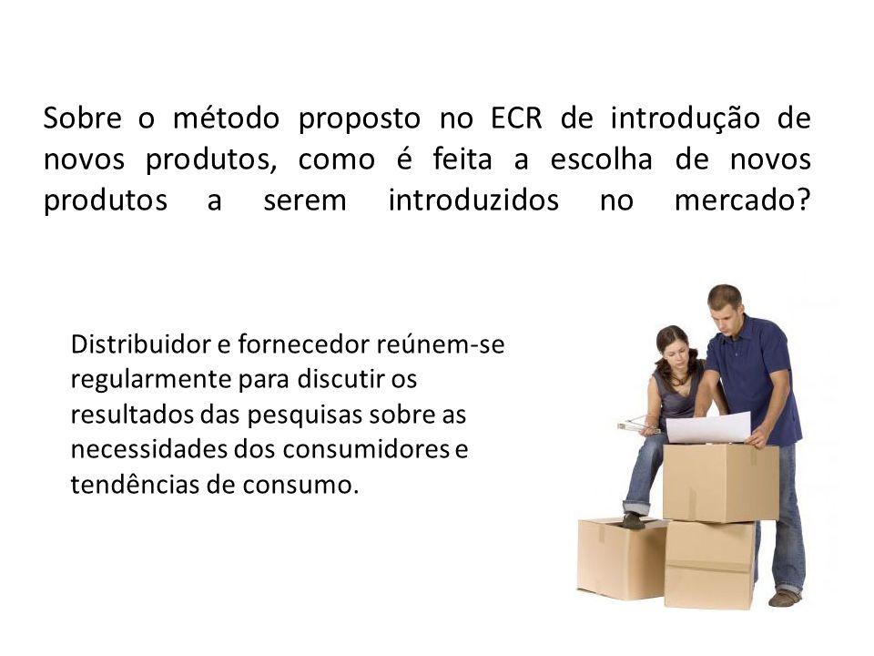 Sobre o método proposto no ECR de introdução de novos produtos, como é feita a escolha de novos produtos a serem introduzidos no mercado