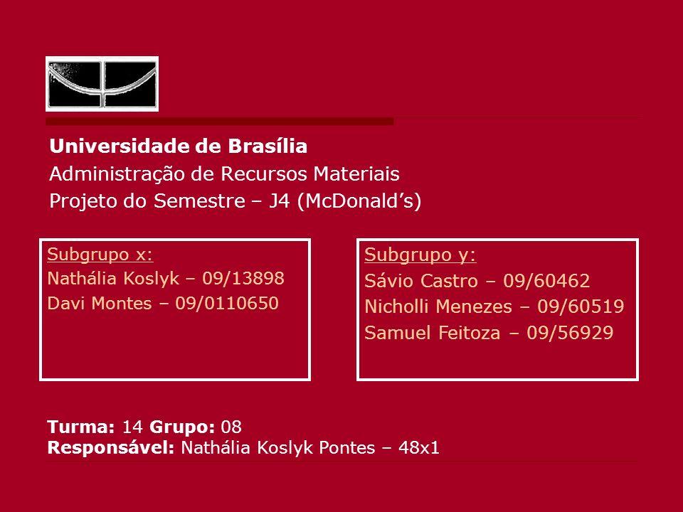 Universidade de Brasília Administração de Recursos Materiais