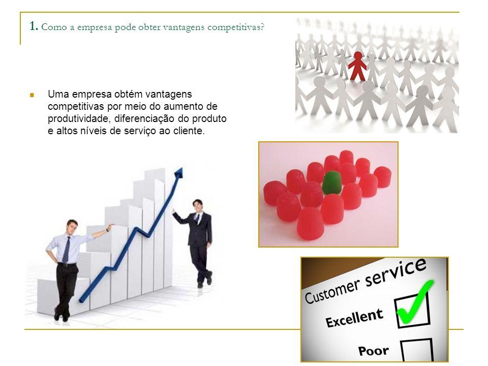 1. Como a empresa pode obter vantagens competitivas