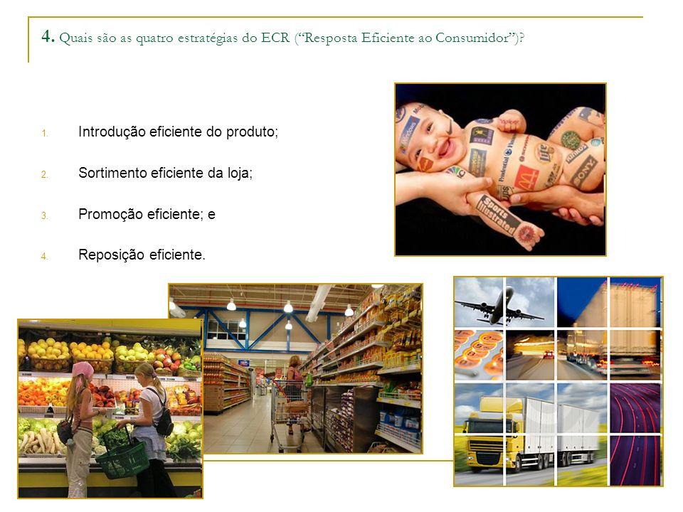 4. Quais são as quatro estratégias do ECR ( Resposta Eficiente ao Consumidor )