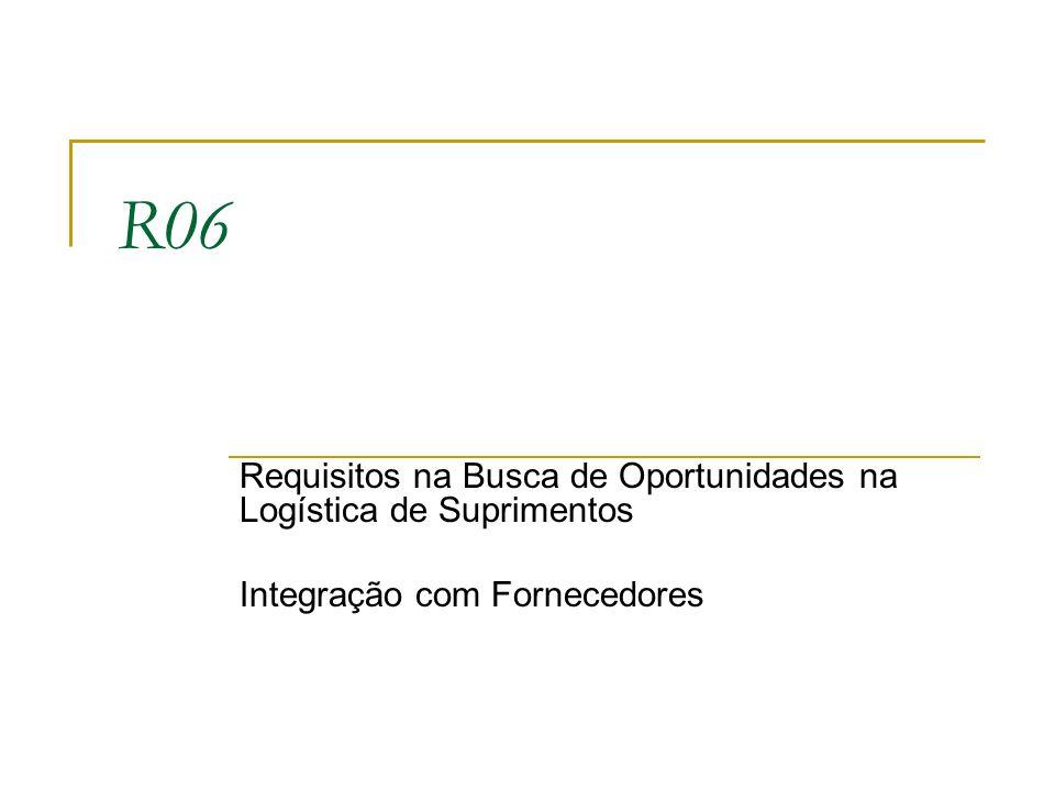 R06 Requisitos na Busca de Oportunidades na Logística de Suprimentos
