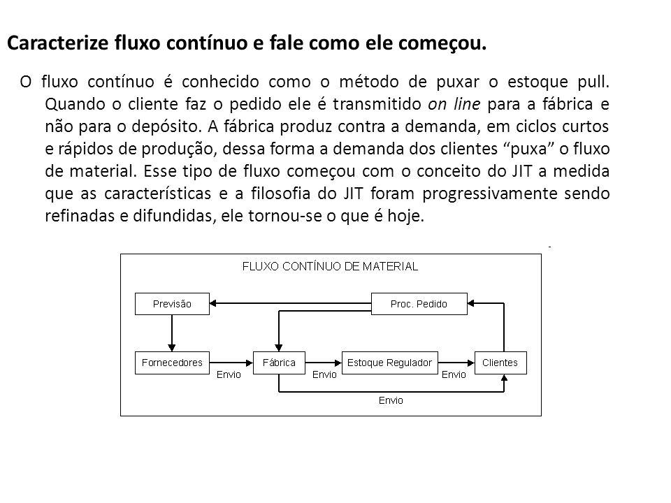 Caracterize fluxo contínuo e fale como ele começou.