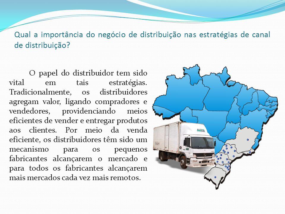 Qual a importância do negócio de distribuição nas estratégias de canal de distribuição