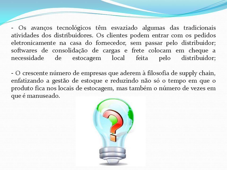 - Os avanços tecnológicos têm esvaziado algumas das tradicionais atividades dos distribuidores.