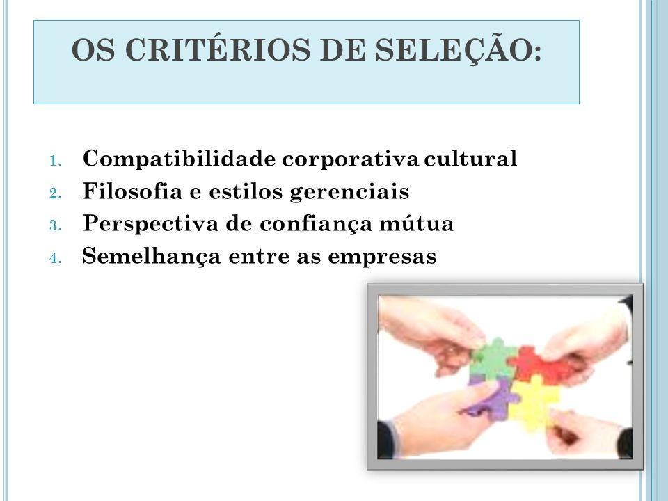 OS CRITÉRIOS DE SELEÇÃO: