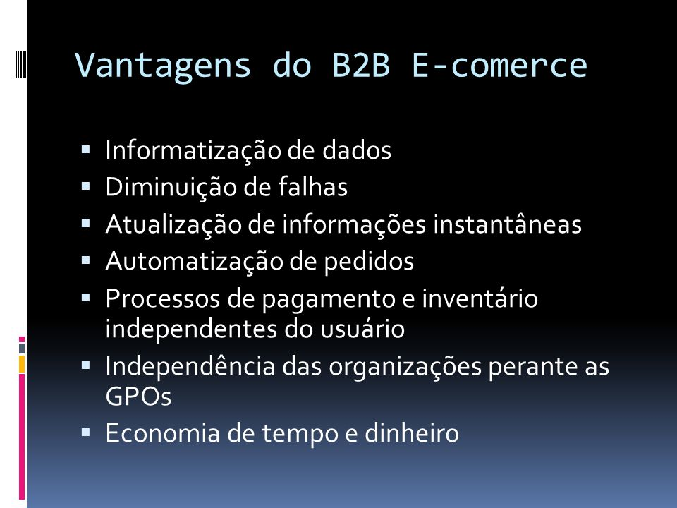 Vantagens do B2B E-comerce