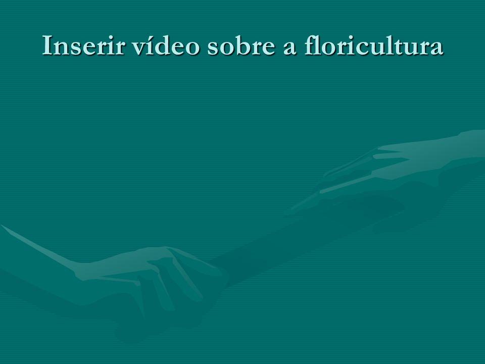 Inserir vídeo sobre a floricultura