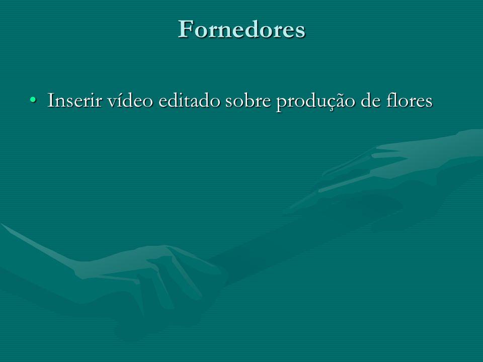 Fornedores Inserir vídeo editado sobre produção de flores