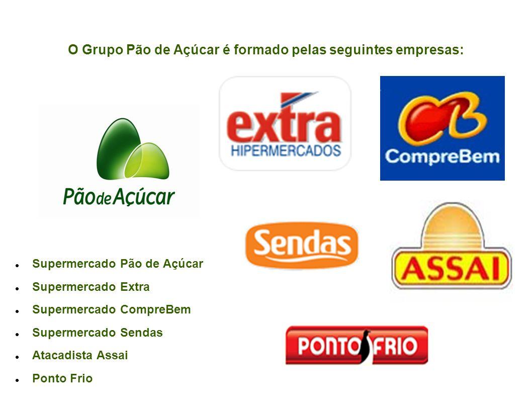 O Grupo Pão de Açúcar é formado pelas seguintes empresas: