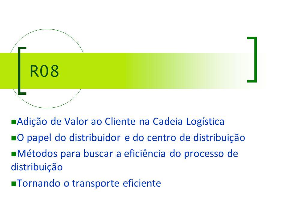 R08 Adição de Valor ao Cliente na Cadeia Logística