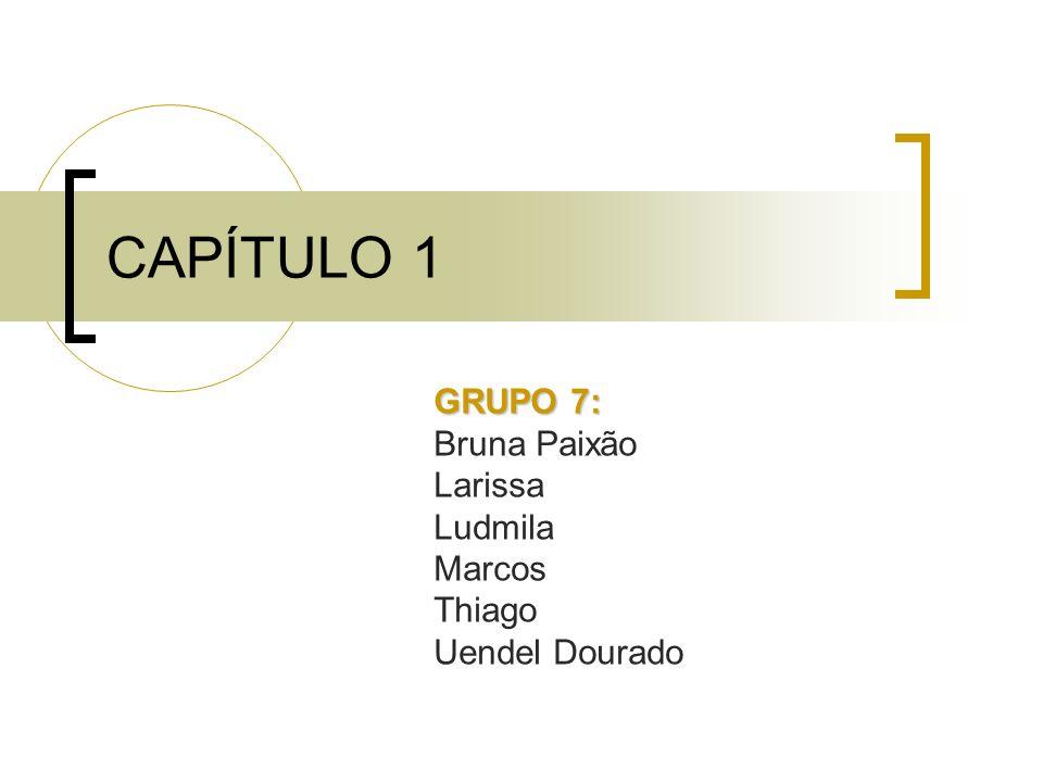 GRUPO 7: Bruna Paixão Larissa Ludmila Marcos Thiago Uendel Dourado