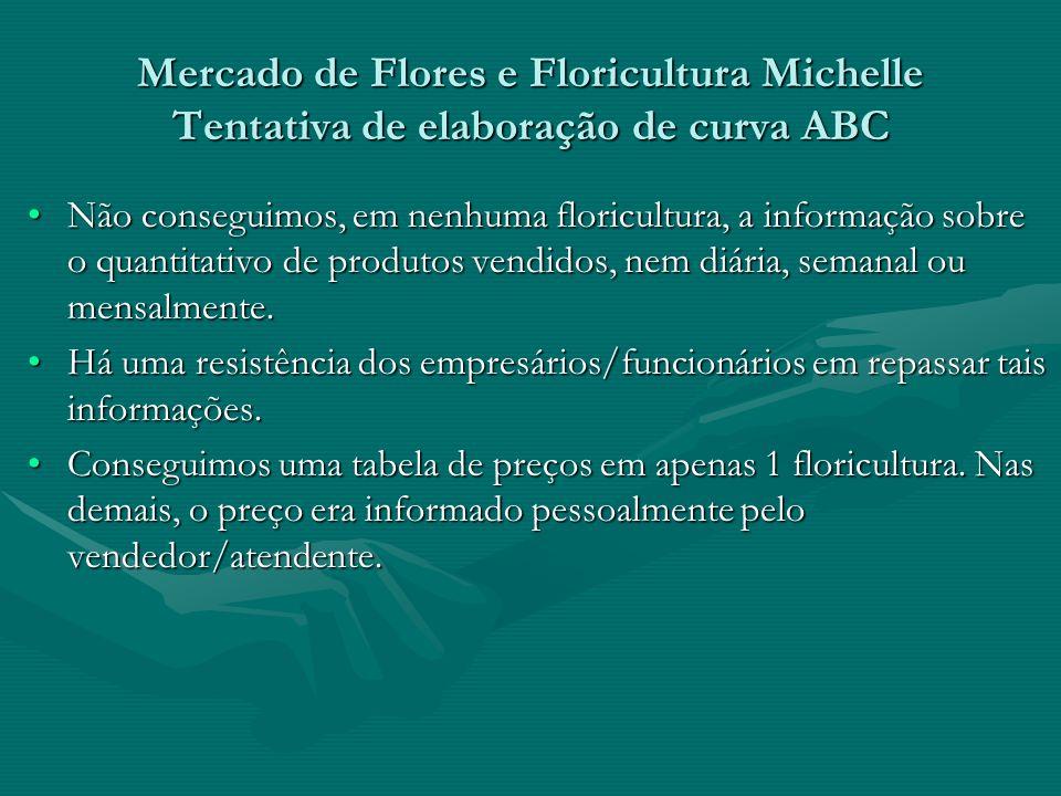 Mercado de Flores e Floricultura Michelle Tentativa de elaboração de curva ABC
