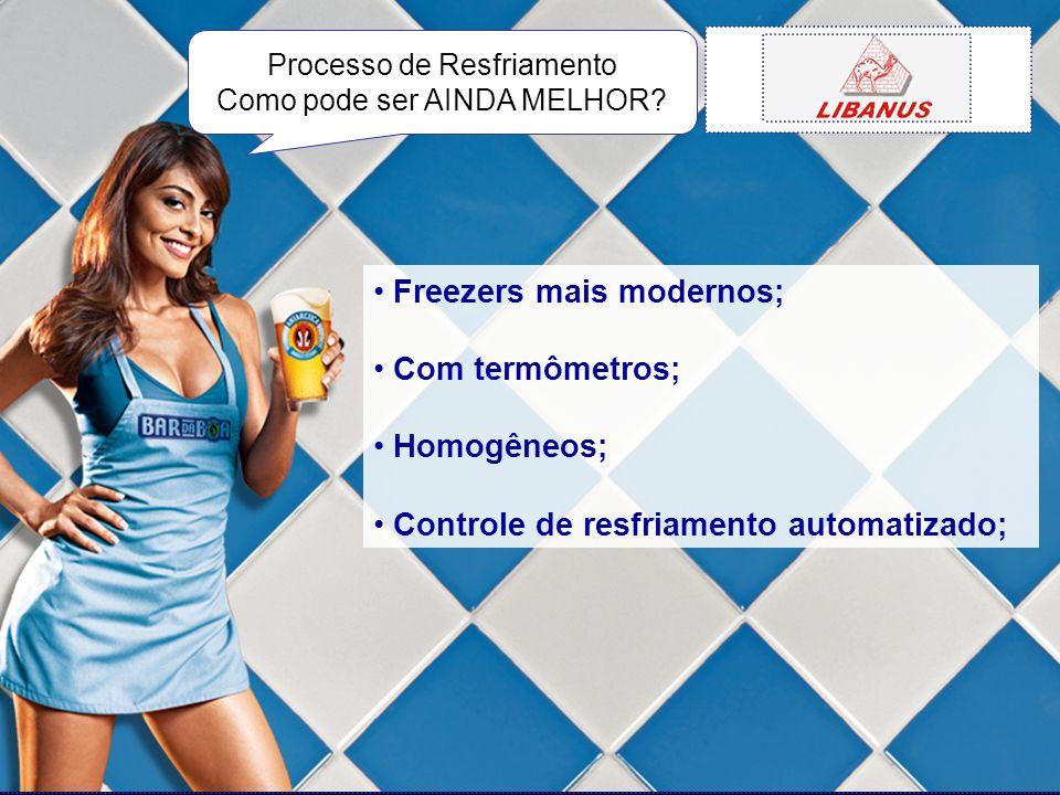 Freezers mais modernos; Com termômetros; Homogêneos;