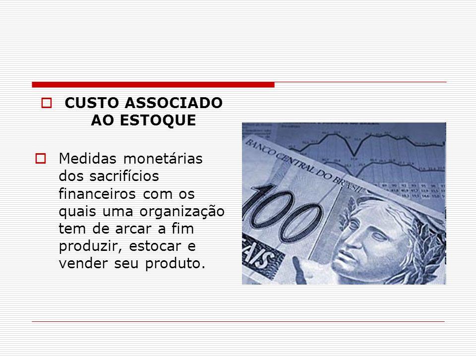 CUSTO ASSOCIADO AO ESTOQUE