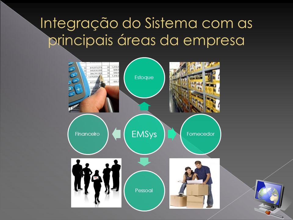 Integração do Sistema com as principais áreas da empresa