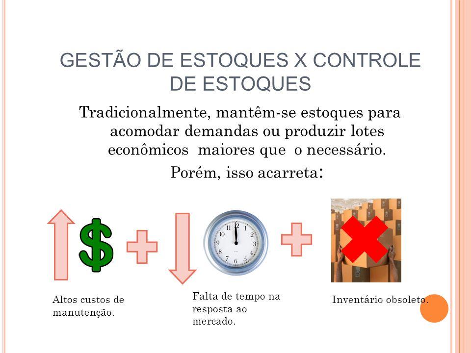 GESTÃO DE ESTOQUES X CONTROLE DE ESTOQUES
