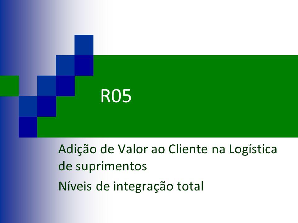 R05 Adição de Valor ao Cliente na Logística de suprimentos