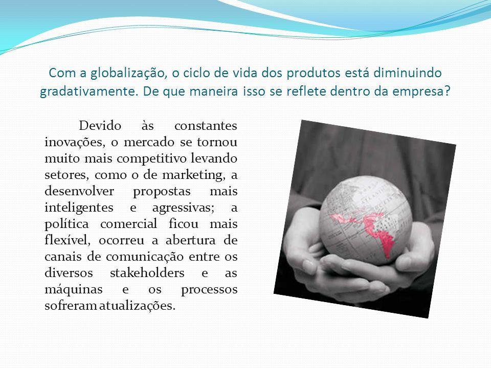 Com a globalização, o ciclo de vida dos produtos está diminuindo gradativamente. De que maneira isso se reflete dentro da empresa