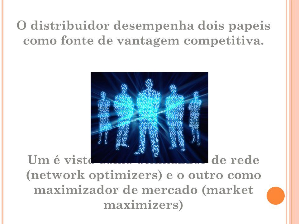 O distribuidor desempenha dois papeis como fonte de vantagem competitiva.