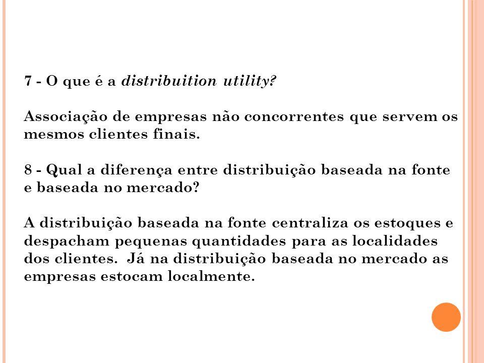 7 - O que é a distribuition utility