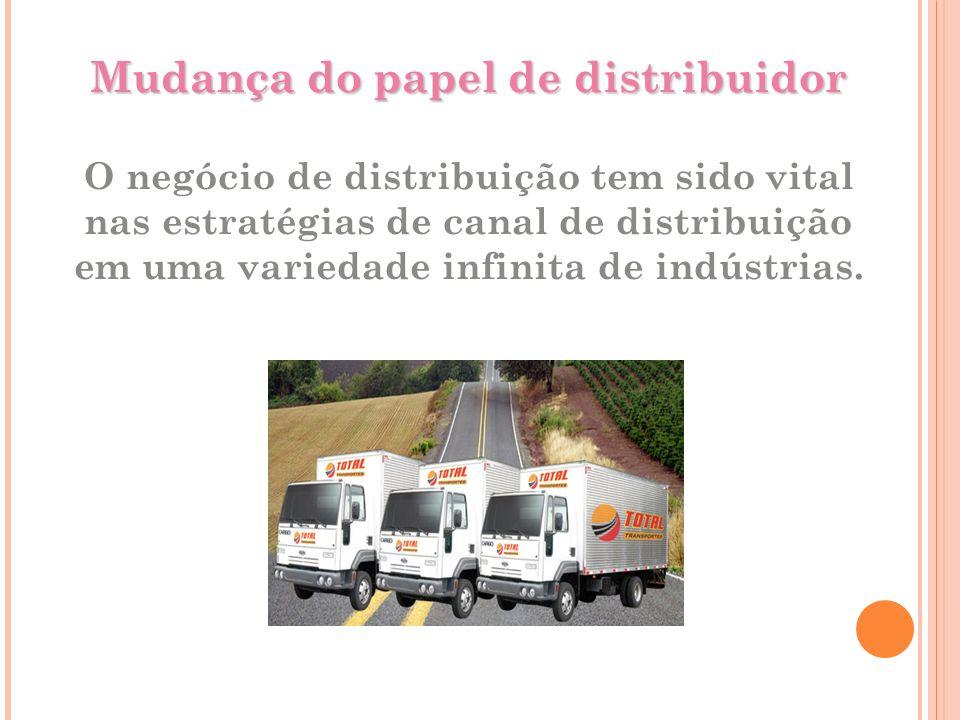 Mudança do papel de distribuidor O negócio de distribuição tem sido vital nas estratégias de canal de distribuição em uma variedade infinita de indústrias.