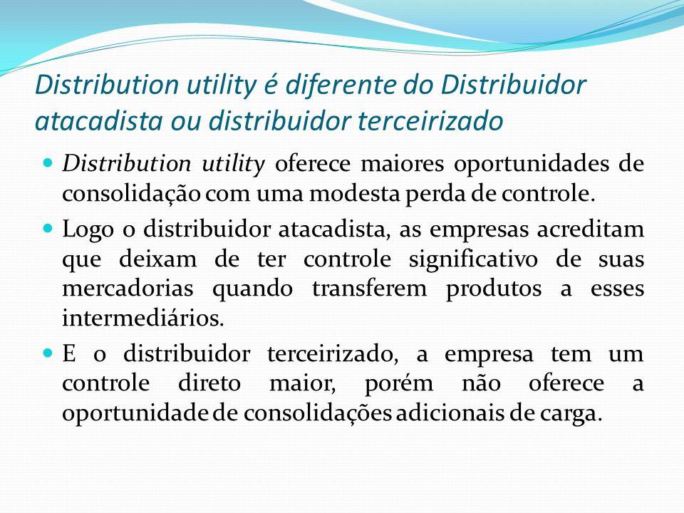 Distribution utility é diferente do Distribuidor atacadista ou distribuidor terceirizado