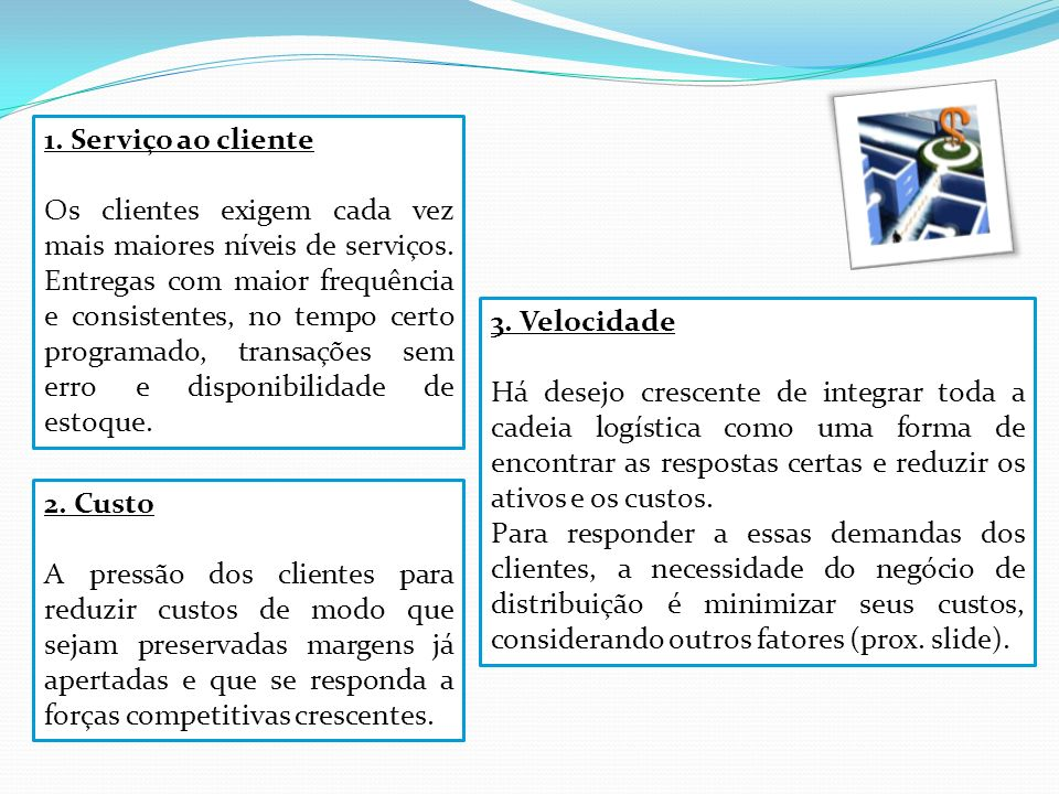 1. Serviço ao cliente