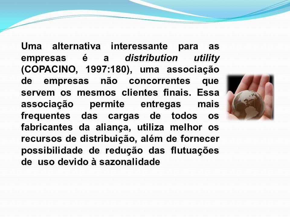 Uma alternativa interessante para as empresas é a distribution utility (COPACINO, 1997:180), uma associação de empresas não concorrentes que servem os mesmos clientes finais.