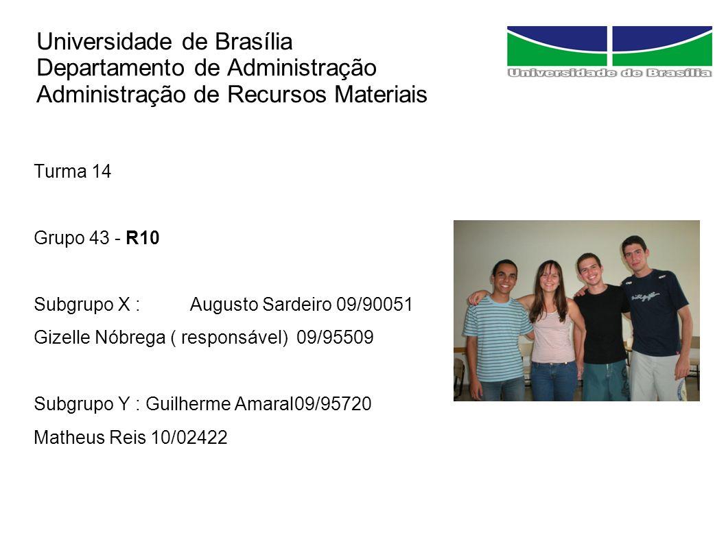 Universidade de Brasília Departamento de Administração Administração de Recursos Materiais