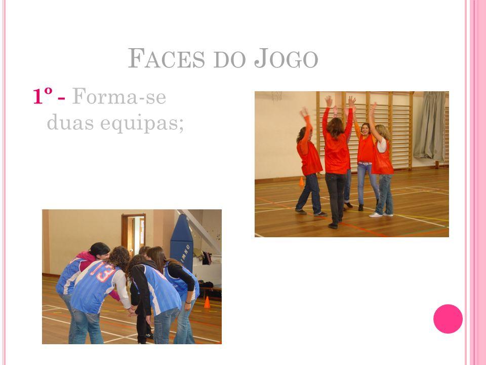 Faces do Jogo 1º - Forma-se duas equipas;