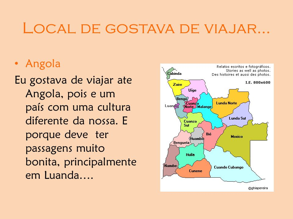 Local de gostava de viajar…