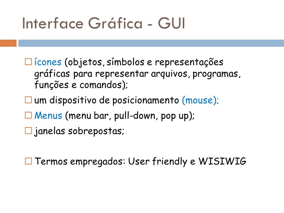 Interface Gráfica - GUI