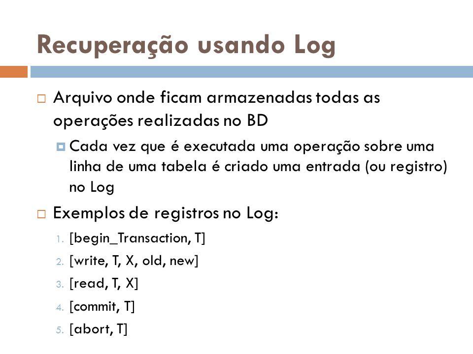 Recuperação usando Log
