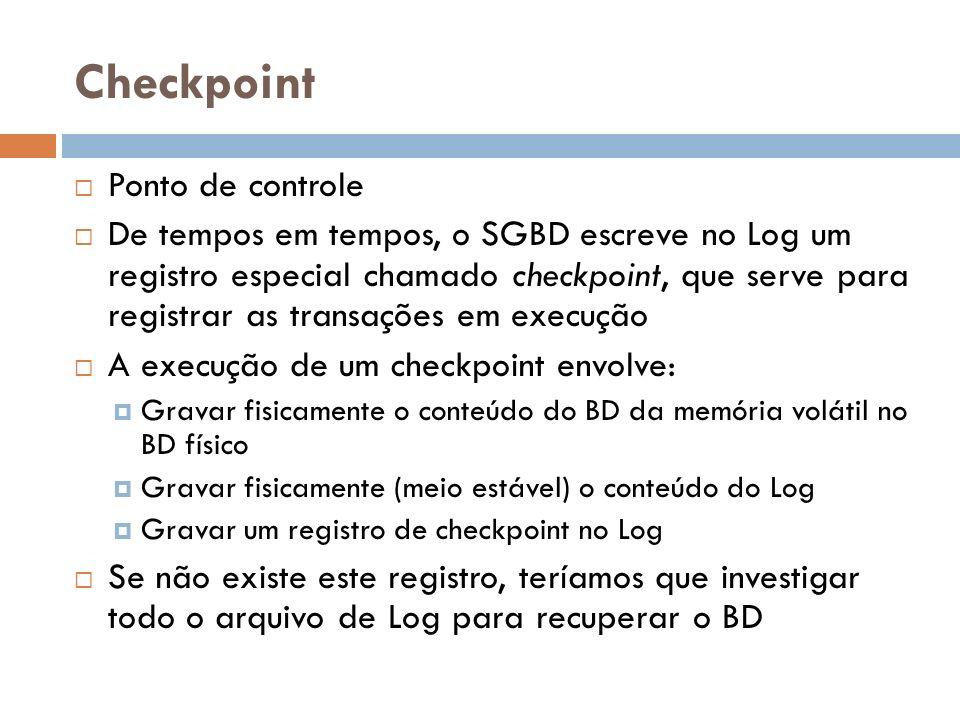 Checkpoint Ponto de controle