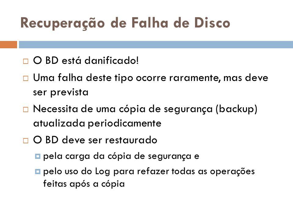 Recuperação de Falha de Disco