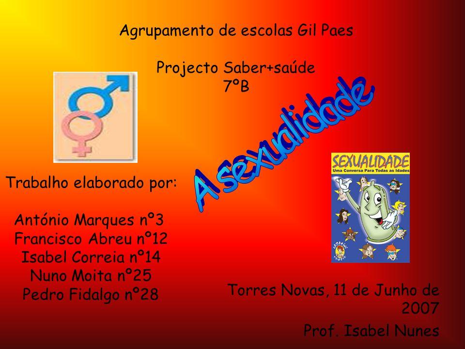 Agrupamento de escolas Gil Paes Projecto Saber+saúde 7ºB