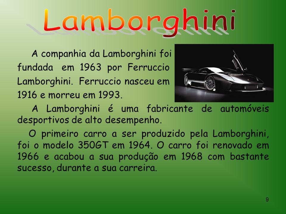 Lamborghini A companhia da Lamborghini foi