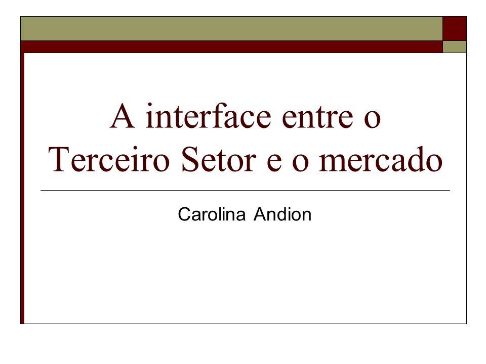 A interface entre o Terceiro Setor e o mercado