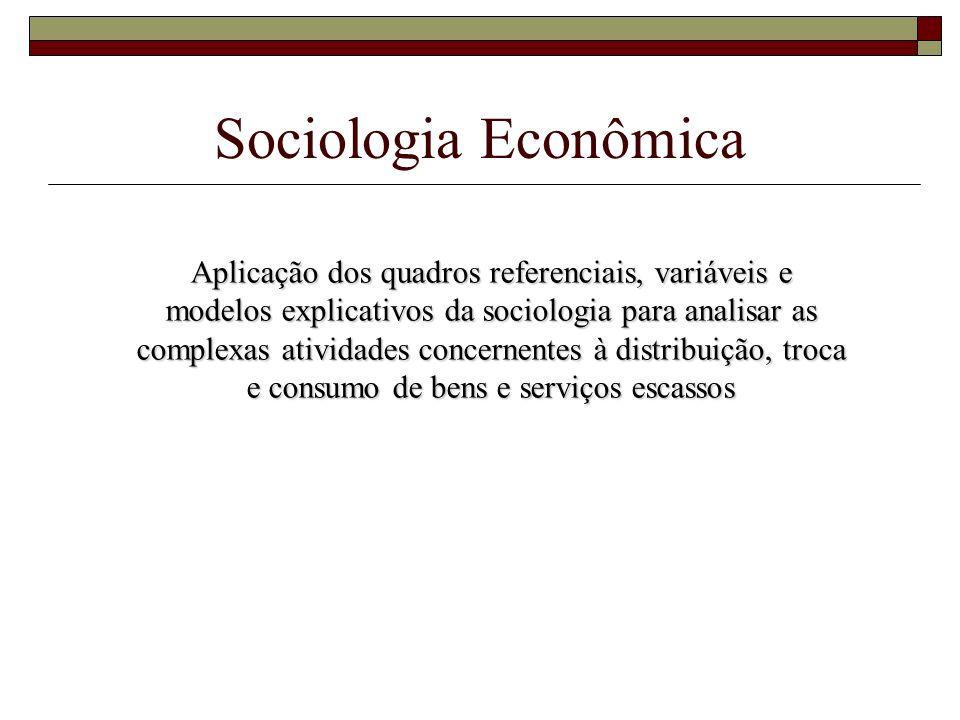 Sociologia Econômica