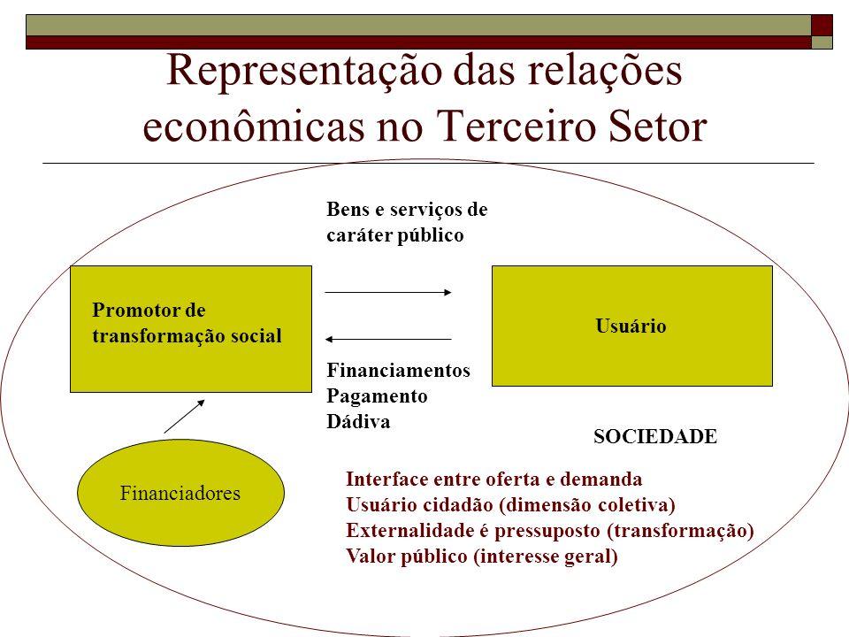Representação das relações econômicas no Terceiro Setor