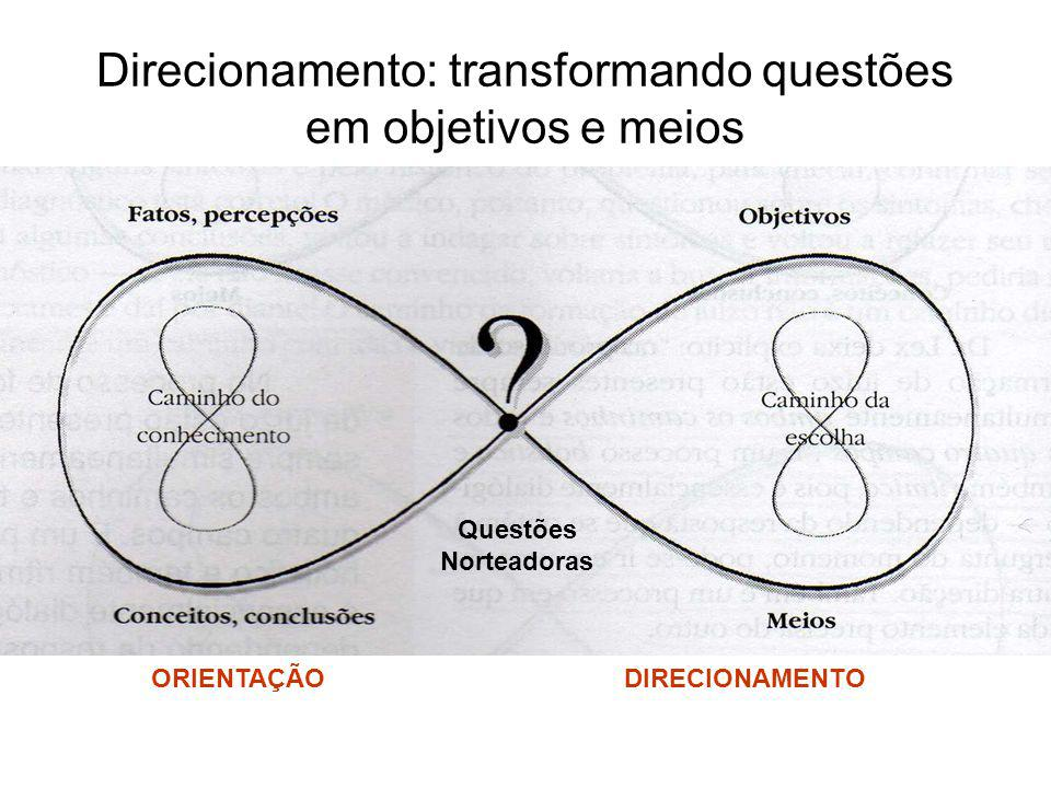Direcionamento: transformando questões em objetivos e meios