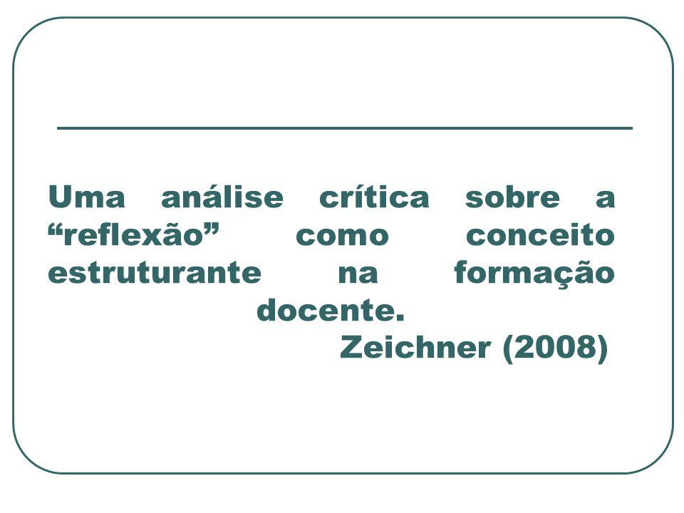 Uma análise crítica sobre a reflexão como conceito estruturante na formação docente.